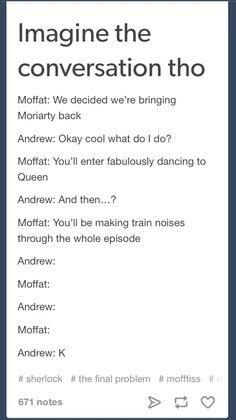 Sherlock. Moriarty. Andrew Scott. Moffat and Gatiss