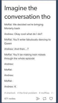Sherlock. Moriarty. Andrew Scott. Moffat and Gatiss