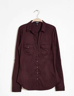 chemise basic prune - http://www.jennyfer.com/fr-fr/collection/chemises/chemise-basic-prune-10008155025.html