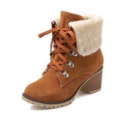 3f8f4ecc044 Karinluna 2017 г. Большие размеры 34-43 ботинки Martin Для женщин Модная  женская обувь досуг добавить Обувь на теплом меху Кружево на шнуровке  Зимние ...