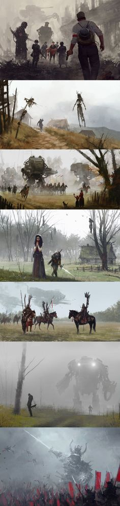 I heard that you guys like this type of artwork. Made by polish artist Jakub Rozalski. - 9GAG