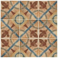 Merola Tile Americana Cleveland 8-3/4 in. x 8-3/4 in. Porcelain Floor and Wall Tile (10.87 sq. ft. / case)-FNUAM9CL - The Home Depot