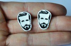 Ryan Gosling Earrings by JamJarShop on Etsy, £4.00