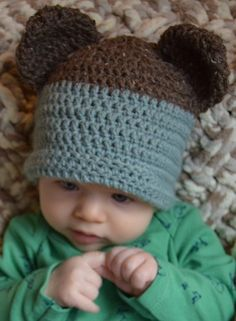 A free crochet pattern for legit adjustable teddy bear ears! Super quick  and easy and perfect to add onto baby hats! 0ad89f73dc8f