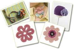 Learn How to Crochet Flowers with 5 Free Crochet Flower Patterns - Crochet Me Blog - free signup for PDF download