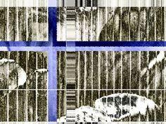 """'Kachel """"blaugrau""""' von Rudolf Büttner bei artflakes.com als Poster oder Kunstdruck $18.71"""