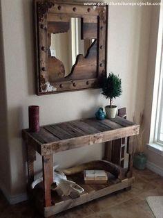 vintage-look-pallet-hallway-table.jpg (660×880)