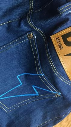 Sewing a back patch on jeans! On my IG Back Patch, Patches, Sewing, Jeans, Collection, Fashion, Moda, Dressmaking, Couture