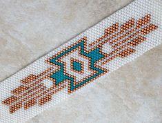 Beaded Bracelet  Southwest Peyote  Beaded by TombstoneBeads