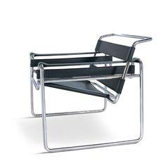 Marcel Breuer proyectó la No. B3 Chair, mejor conocida como silla Wassily, para la residencia de Kandinsky en Dessau, donde estaba la Bauhaus School. Este sillón tiene una importancia fundamental porque se usa por la primiera vez un tubo de acero de 20 mm. de diámetro, el mismo de la bicicleta del diseñador. El modelo de esta silla, ideado en 1925, sufrió distintos cambios en el tiempo.