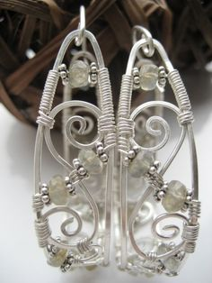 Tutorial Hoop Earrings with Stones by anthology27 on Etsy
