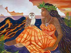 Hawaiian Mythology, Hawaiian Goddess, Hawaiian Dancers, Hawaiian Art, Polynesian Art, Divine Goddess, Sweetarts, Tarot Card Decks, Tropical Art