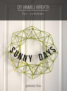 DIY - Persia Lou: Sunny Days Himmeli Wreath and Summer Celebration 50 Diy Crafts, Diy Wreath, Wreaths, Easy Art For Kids, Mandala, Homemade Candles, Handmade Ornaments, Do It Yourself Home, Summer Wreath