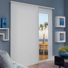 Blinds brand cordless top down bottom up cellular shades in cool dont let heat escape through your sliding glass doors cellular sliding shades help combat heat loss in your home planetlyrics Image collections