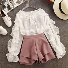64 Ideas Clothes Cute Outfits Shorts For 2019 Girls Fashion Clothes, Teen Fashion Outfits, Cute Fashion, Look Fashion, Korean Fashion, Girl Fashion, Fashion Dresses, Fashion Hair, Style Clothes