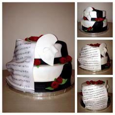 PHANTOM OF THE OPERA Opera Cake, Phantom Of The Opera, Cake Creations, Cake Ideas, Birthday Ideas, 18th, Sweets, Cakes, Baking
