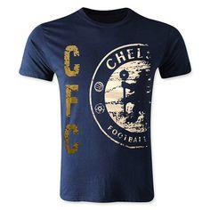 Chelsea FC Fox T-Shirt (Blue/White/Gold) on Etsy, $12.99