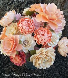 A lovely assortment of paper flowers <3 Designed by Anna Fearer