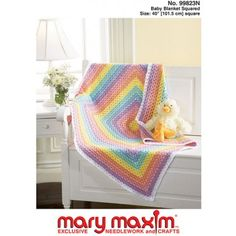 Crochet this wonderful blanket.  Baby Blanket Squared Pattern