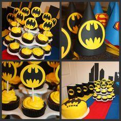 Ethans Birthday Super Hero Party Ideas - Batman Party - Ideas of Batman Party - Ethans Birthday Super Hero Party Ideas Batman Birthday, Superhero Birthday Party, 6th Birthday Parties, 3rd Birthday, Birthday Ideas, Batman Party Supplies, Cupcake Cakes, Cupcake Pics, Party Cupcakes