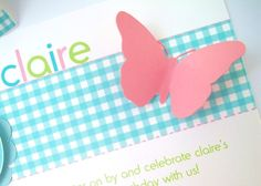 Love the simplicity of this butterfly invitation