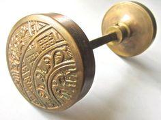 Vintage bronze eastlake door knob set by TheBlindPeacock on Etsy, $48.00