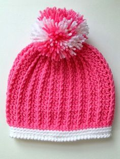 FREE Pattern by With Love by Jenni: Ribbed Toddler Hat