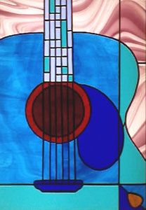 guitar stained glass - Google Search
