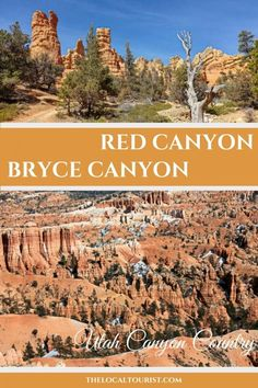Explore Utah Canyon Country with a visit to Red Canyon and Bryce Canyon. #USA