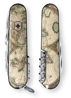 World Map 1689 Swiss Army Knife