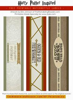 Imprimibles de Harry Potter 2.