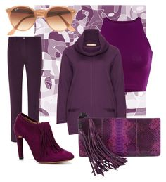Gentle purple by stefania-fornoni on Polyvore featuring polyvore, fashion, style, Isolde Roth, Viyella, Chloé, Gucci and Ray-Ban