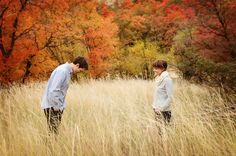 www.frostedproductions.com | #utah #engagement #photographer #cute #engagement #photo #ideas #fall #colors #tall #grass #field