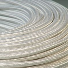 CABLE TEXTILE ROND 2X0.75mm² BLANC