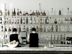 favorite kitchen inspiration from Bottega Louie Restaurant   kitchen shelves #DeltaFaucetInspired