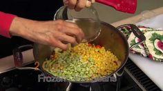 Extension Food Specialist Barbara Brown prepares winter vegetable soup.