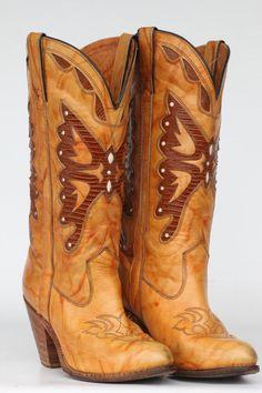vintage Miss Capezio butterfly cutout leather boots