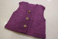 Ravelry: Highbury Vest pattern by Ella Austin Knitting For Kids, Baby Knitting Patterns, Baby Patterns, Knit Vest, Baby Cardigan, Dogs And Kids, Vest Pattern, Baby Wearing, Knit Crochet