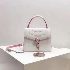 4f8cac834f  discountbulgariserpentiforeverbag Limited edition!Bulgari Serpenti Forever  IN LOVE flap cover bags in ceramic white