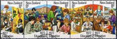 New Zealand 1977 Education Strip Fine Used                       SG 1138a Scott 625a  Other Mini sheets of Stamps Here