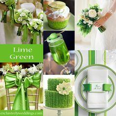 Lime Green Wedding Color - #exclusivelyweddings | #weddingcolors