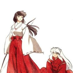 Nooo Kikyo does not belong with Inuyasha! Inuyasha and Kagome belong together. But it is a nice pic Inuyasha And Kikyo, Inuyasha Funny, Inuyasha Fan Art, Kagome And Inuyasha, Kagome Higurashi, Manga Anime, Anime Art, Inu Yasha, Mug Shots
