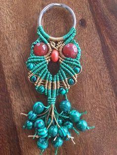 Owl Necklace, Macrame Necklace, Macrame Jewelry, Macrame Bracelet Patterns, Macrame Patterns, Micro Macramé, Macrame Owl, Macrame Knots, Owl Pendant