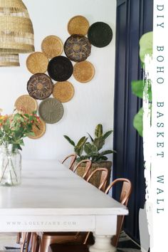 Super easy DIY boho basket wall using thrifted wicker plate holders. Easily fill a wall with rattan basket to get a boho basket wall! Basket Wall   DIY Basket Wall   Boho Basket Wall   Basket Wall On Wallpaper   Wallpaper   Wall Basket In The Nursery   How To Hang Baskets On The Wall   Hanging Baskets   How To Hang a Basket Wall   Basket Wall Nursery   Hanging Baskets in the Nursery   Hanging Baskets Nursery   Nursery Room   Baby Girl Nursery   Girl Nursery Room   Simple Basket Wall   How to…