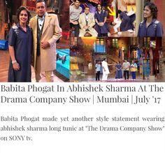 #fashiondesignerabhisheksharma #abhisheksharma #babitaphogat #sony #thedramacompanyshow #elegant #statement #pret #mumbai #july #abhishekstudio