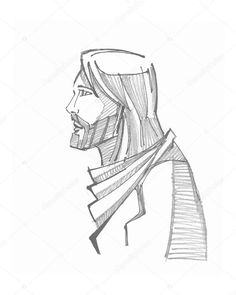 Hand Drawn Vector Illustration Or Drawing Of Jesus Christ - 336792848 : Shutterstock Christian Drawings, Christian Art, Jesus Drawings, My Drawings, Bible Illustrations, Illustration Art, Croix Christ, Jesus Sketch, Jesus Artwork