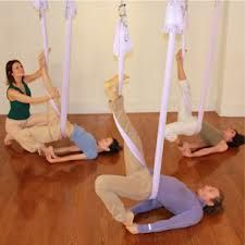 aerial yoga restorative - Google Search