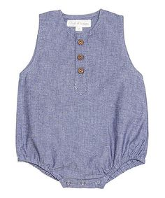 Loving this Blue Chambray Organic Bubble Bodysuit - Infant on #zulily! #zulilyfinds