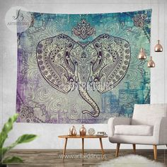 Image result for teal purple grey tapestry