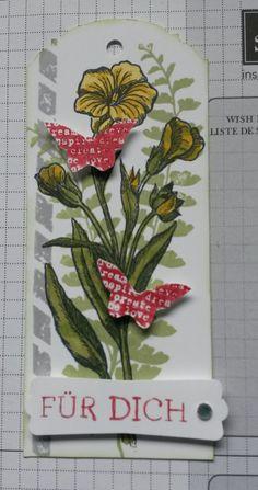 Eleganter Anhänger mit dem Stempelset  Schmetterlingsgruß